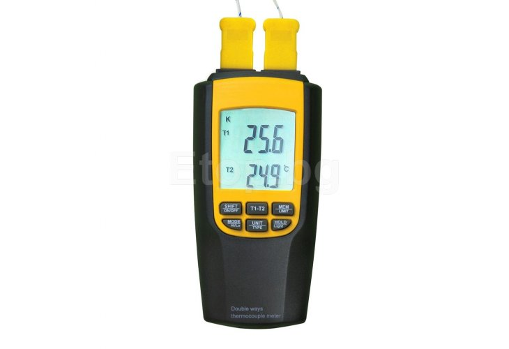 Digital K or J Type Thermometer Thermocouple with 4 Probes 8060 eTop