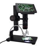 Метален дигитален микроскоп с 5 инча дисплей 1080P HDMI/AV