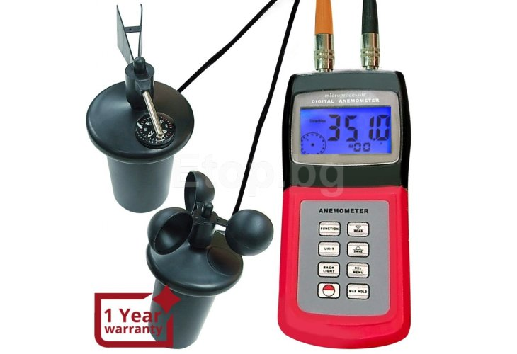 Multi-function Thermo Anemometer CUP speed air Weather AM-4836C eTop