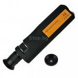 Handheld 200x Fiber Optical Microscope Inspection LED Illumination Scope CE Marking