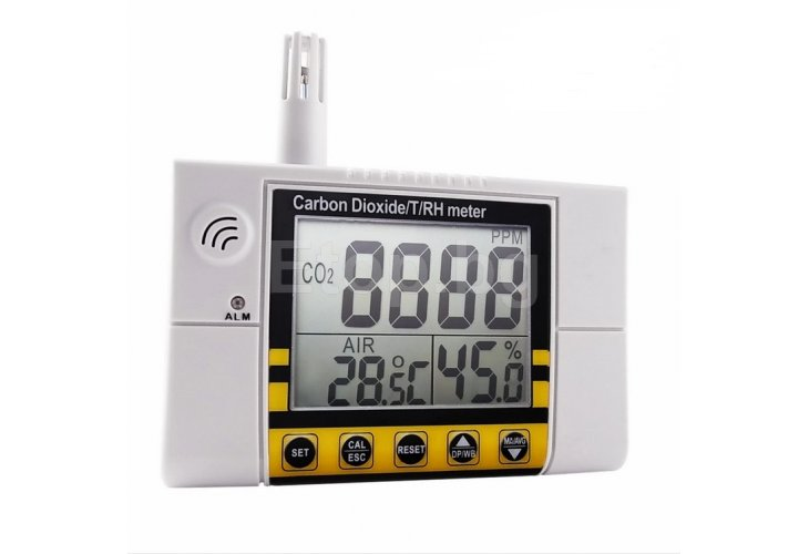 CO22 Wall-Mount Indoor Air Quality Monitor Temperature Humidity RH CO2 CO22