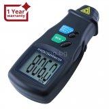 Цифров лазерен 2в1 фото тахометър – контактен и безконтактен RPM
