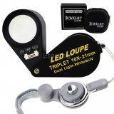 Бижутерска лупа 10х увеличение, LED и UV светлина