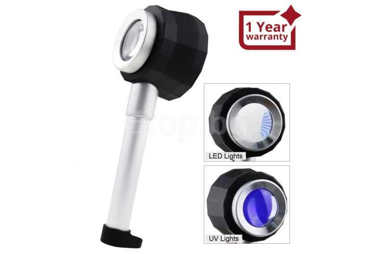 10x Magnification Optical Glass Loupe Magnifier Double Lens Magnifying Jewelry Gem Tool GEM-310