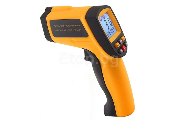 Digital Infrared IR Laser Thermometer -50~900°C -58~1652°F 12:1 IR-G900 eTop