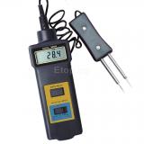 Цифров влагомер и термометър за дърво, памук, хартия