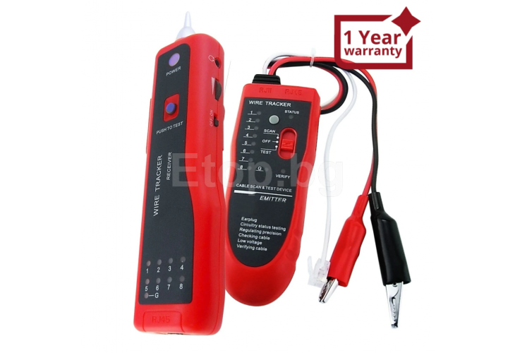 Network LAN or Telephone Cable Wire Tracker Open Circuit Tester N03NF-806R eTop