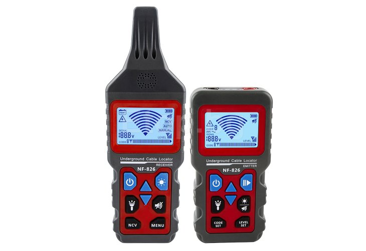 Noyafa NF-826 Wire Tracker Portable Telephone Cable Locator Underground Pipe Detector Professional Cable Finder NF-826