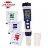 Уред за проверка качеството на водата 5-в-1 за pH,TDS,EC, соленост, температура