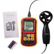 Digital Anemometer Wind Speed Meter Thermometer 0~45m/s AM8901 eTop