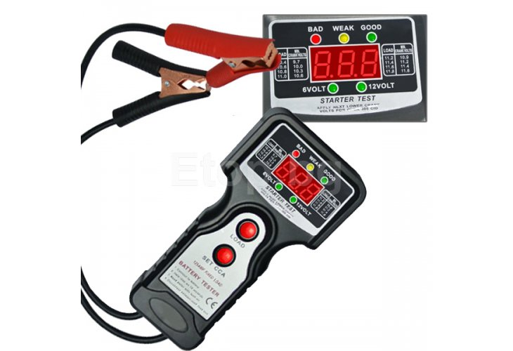 Car Automotive Vehicular Battery Tester Checker 6V & 12V E04-016 eTop
